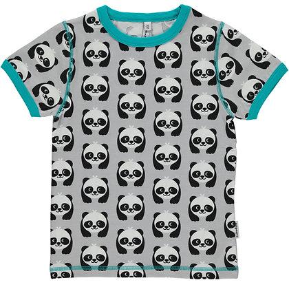 MAXOMORRA organic Short Sleeve Top | Panda