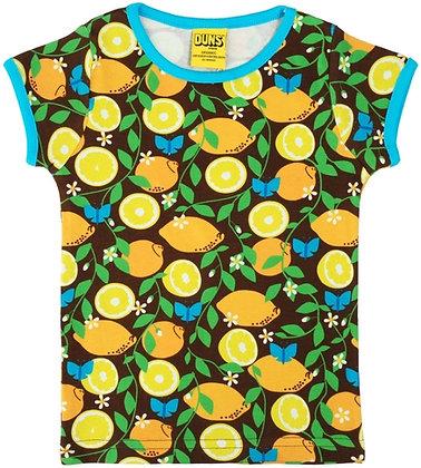 DUNS Sweden organic Short Sleeve Top | Lemon
