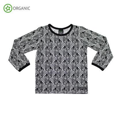 VILLERVALLA organic Long Sleeve Top | Zebra