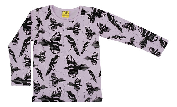 DUNS More Than a Fling organic Long Sleeve Top Pica Pica | Orchid Bloom