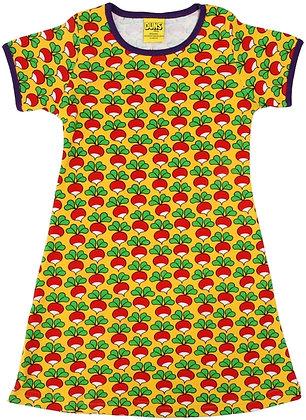 DUNS Sweden organic Adult Short Sleeve Dress Radish | Yellow