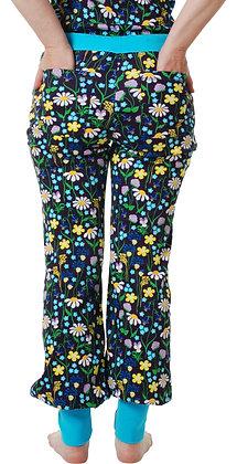 DUNS of Sweden organic Adult Baggy Pants Midsummer Flowers   Purple