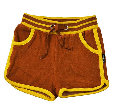 MOROMINI organic Retro Running Shorts (Terry) | Brown