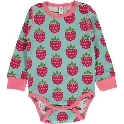 MAXOMORRA organic Long Sleeve Body | Raspberry