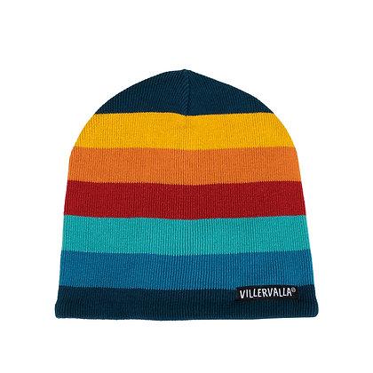 VILLERVALLA Knitted Hat (Fleece Lined) | Multistripe Marina