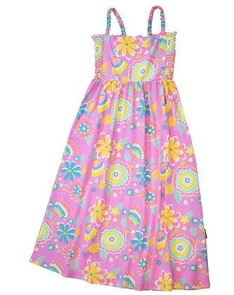 MOROMINI organic Sun Dress | Mumbai Flower Market Pink