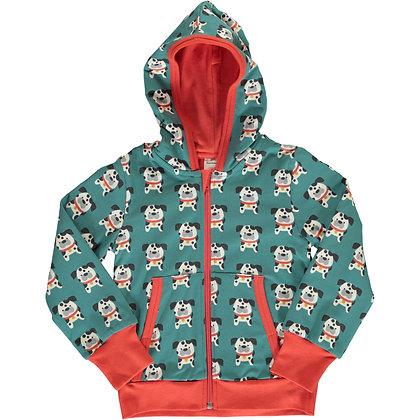 MAXOMORRA organic Cardigan Hood | Dalmatian Buddy