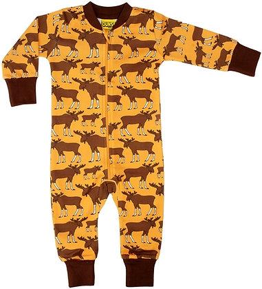 DUNS Sweden organic Zip Suit Moose   Mustard