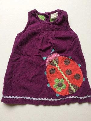 FRUGI PreLoved Ladybird Corduroy Dress | 3-6 months