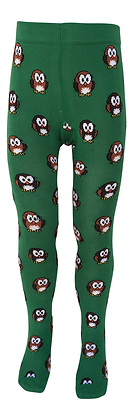 SLUGS & SNAILS Tights Organic Cotton | HOOT (Owls)