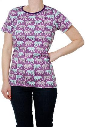 DUNS Sweden organic Adult Short Sleeve Top Elephant Walk | Purple