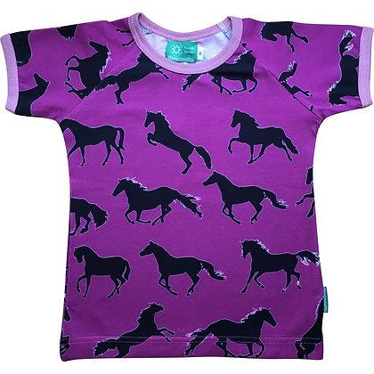 NAPERONUTTU organic Short Sleeve Top   Horses