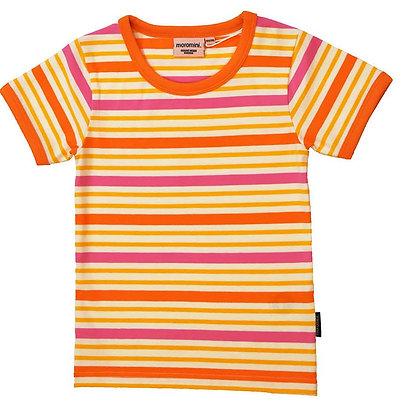 MOROMINI organic Short Sleeve Top | Orange Stripes