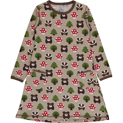 MAXOMORRA organic Long Sleeve Dress | Forest