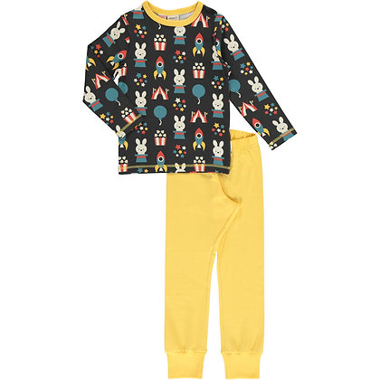 MAXOMORRA organic Pyjama Set Long Sleeve   Fun Park