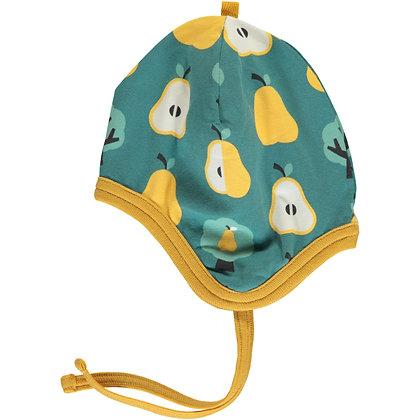 MAXOMORRA organic Helmet Hat (Velour Lining) | Golden Pear
