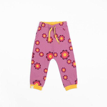 ALBA of Denmark Lucca Baby Pants   Bordeaux Flower Power
