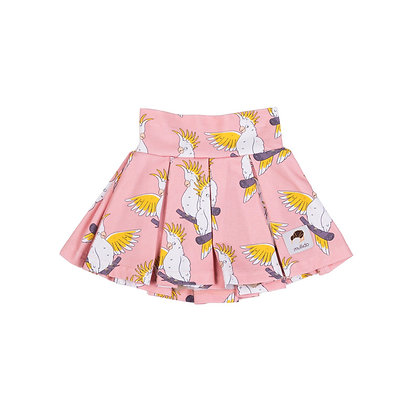 MULLIDO organic Tennis Style Skirt | Pink Cockatoo