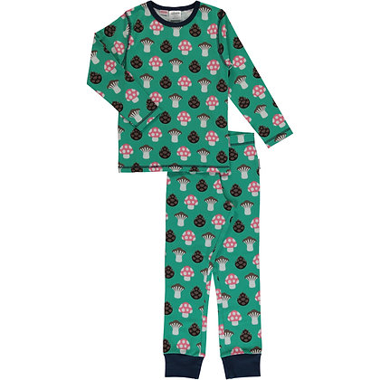MAXOMORRA organic Pyjama Set Long Sleeve | Mushroom