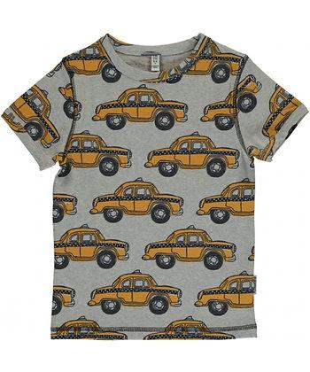 MAXOMORRA organic Short Sleeve V-neck Top   Taxi