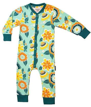 MOROMINI organic Baby Pyjamas | Mumbai Flower Market Green