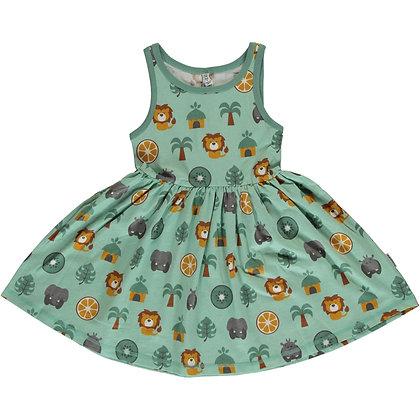 MAXOMORRA organic Sleeveless Dress Spin | Jungle
