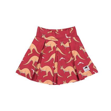 MULLIDO organic Tennis Style Skirt | Red Kangaroo