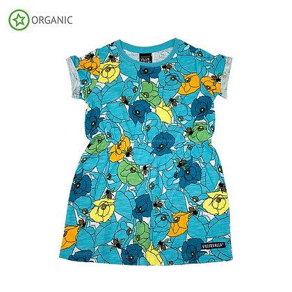 VILLERVALLA organic Short Sleeve Dress Poppy | Riviera