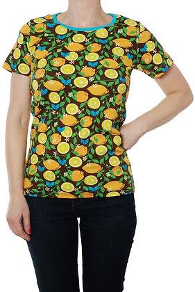 DUNS Sweden organic Adult Short Sleeve Top | Lemon