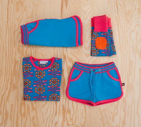 MOROMINI organic Retro Running Skirt | Blue Jewel
