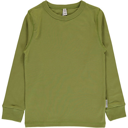 MAXOMORRA organic Long Sleeve Top | Apple Green