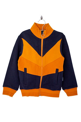 MOROMINI organic Zip Suit Jacket | Navy, Yellow, Orange