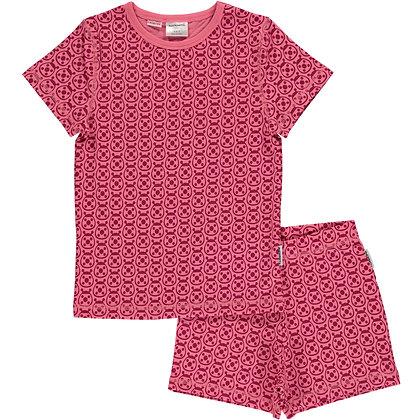 MAXOMORRA organic Pyjama Set Short Sleeve | Ladybug