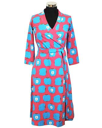 MOROMINI Ladies Wrap Dress | Apple Pink