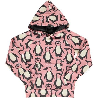 MAXOMORRA organic Long Sleeve Hoodie SWEAT | Penguin Family