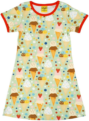 DUNS Sweden organic Short Sleeve Dress Ice Cream | Pistage