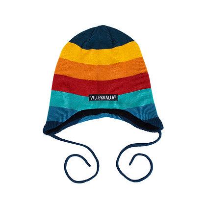 VILLERVALLA Hat with String (Fleece Lined) | Multistripe Marina