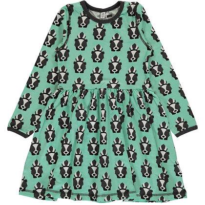 MAXOMORRA organic Long Sleeve Dress Spin | Skunk
