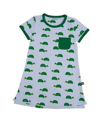 MOROMINI organic Short Sleeve Dress | Happy Turtle