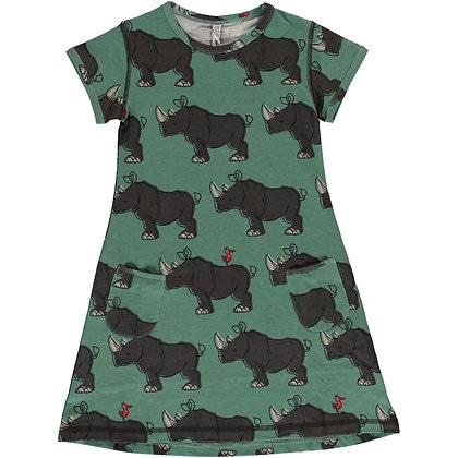 MAXOMORRA organic Short Sleeve Dress | Rhino