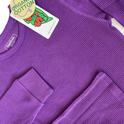 Slugs&Snails organic Waffle Cotton Set | Amethyst Purple