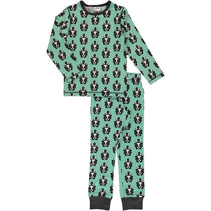 MAXOMORRA organic Pyjama Set Long Sleeve | Skunk