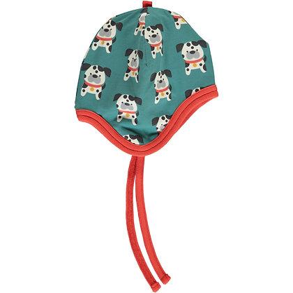 MAXOMORRA organic Helmet Hat (Velour Lining) | Dalmatian Buddy