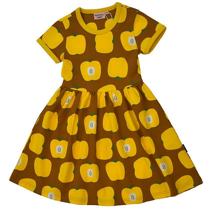 MOROMINI organic Short Sleeve Dress | Apple Yellow