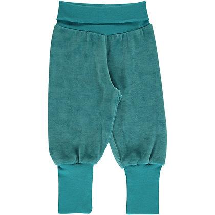 MAXOMORRA organic VELOUR Rib Pants | Arctic Blue
