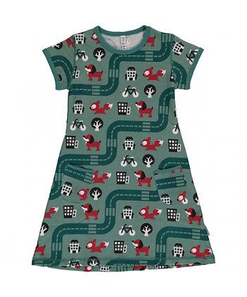 MAXOMORRA organic Short Sleeve Dress | Big City