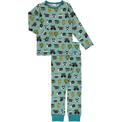 MAXOMORRA organic Pyjama Set Long Sleeve | Garden