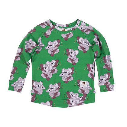 MULLIDO organic Sweatshirt   Green Koala