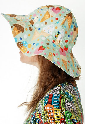 DUNS organic Woven Sunhat with Wide Brim Ice Cream | Pistage