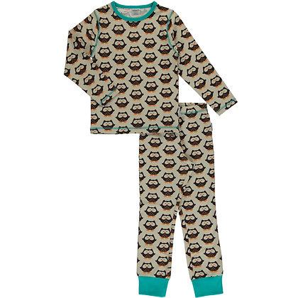 MAXOMORRA organic Pyjama Set Long Sleeve | Owl